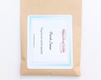 Scented Sachet Fresh Linen Drawer Spring Cleaning Idea Bedroom Rustic Home Decor Nursery Blue Baby Stuff Shower Hostess Gift Prizes Under 10