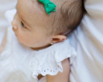 Teeny Tiny Newborn Felt Bows - You Pick Three