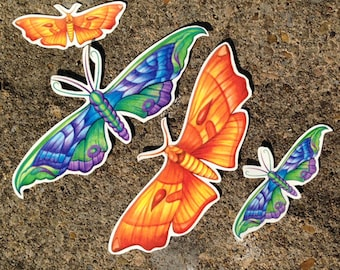 Moth Temporary Tattoo - Moth Tattoo - Temporary Tattoo - Orange Moth - Purple Moth - Butterfly Temporary Tattoo
