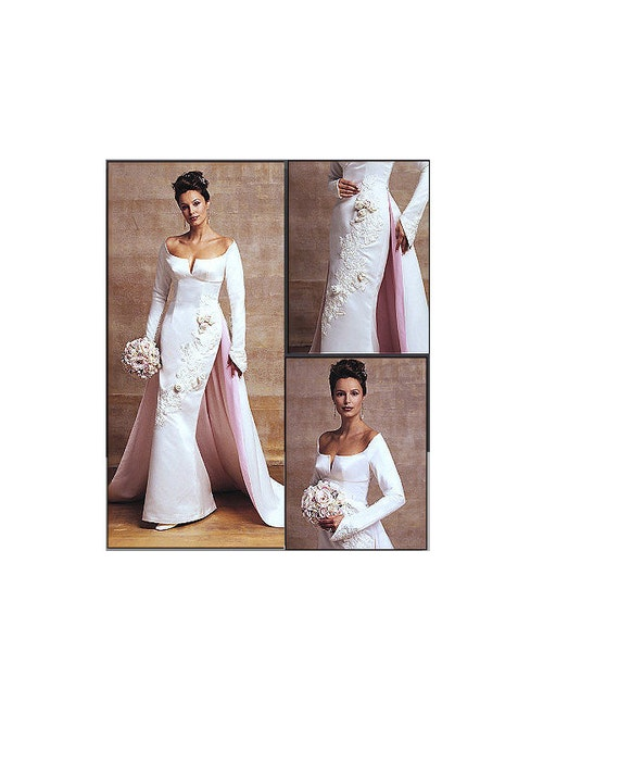 Vogue 2720 Sewing Pattern Wedding Dress Bridal Gown Fitted