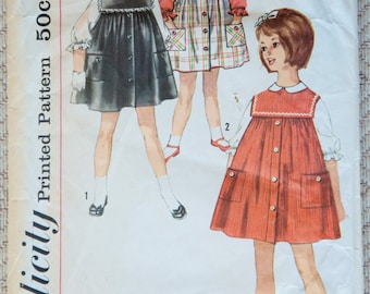 1960's Simplicity Girl's Dress, Jumper and Blouse pattern - Size 5 - No. 4118