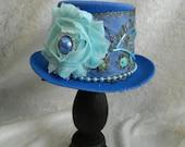 THE MISTRESS - Mini Top Hat - fascinator, hair clip, Halloween hat, photo prop, costume accessory
