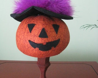 Halloween, Pumpkin nodder, pumpkin, candlestick, fall,  holidays, witch's hat, purple