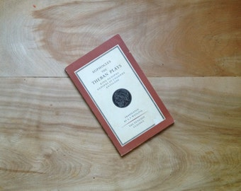 Sophocles, The Theban Plays, 1963, Red Rust Vintage Book