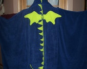 Adult-size Dragon Hooded Towel - Free Personalization