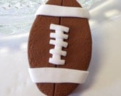 1-Large Polymer Clay Football Pendant Chunky Bead