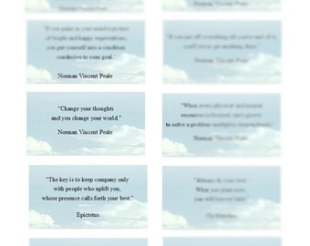 Quote Cards, Instant Download, Printable Inspiration Cards, Motivationals, Digital Cards