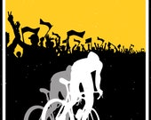 Retro motivational cycling poster2 colour silhouette: Eat Sleep Ride Repeat11X17