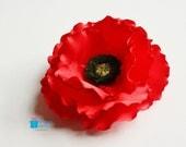 SAMPLE SALE fabric flower, veterans day, fabric poppy, poppy corsage, poppy jewelry, veteran poppy, Remembrance