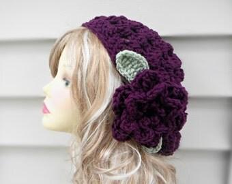 Slouchy Hippie Hat Crochet Slouch Beanie Crochet Womens Hat Hair Accessories Winter Hat Women Unique Hat Crochet  Crochet Summer Hat