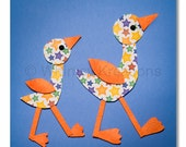 Ducks, Whimsical ducks, Odd ducks, Nursery Prints, Children's Room Decor, Wall Art
