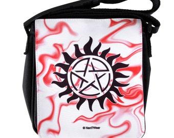 Supernatural Small Geek Messenger Bag: Anti-Possession Sign
