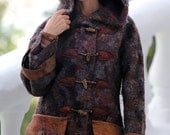 """Pattern for seemless felted """"Coat PARKA with a hood and pockets""""  with instructions"""