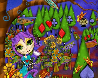 """Title: """"Enjoy the Journey"""". Inspirational and colorful Giclee Art Print."""