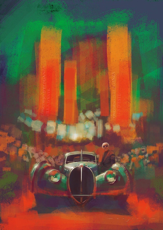 Limited Edition Type 57SC Bugatti Print