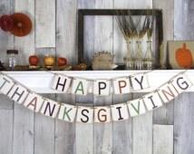 Thanksgiving Banner, Thanksgiving Decor, Fall Banner, Thanksgiving, Fall Decor, Happy Thanksgiving, Thanksgiving Sign, Thanksgiving Bunting