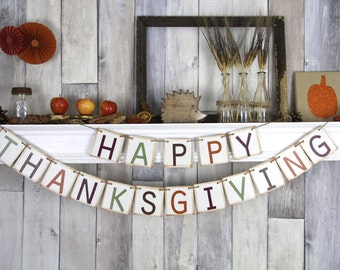 Thanksgiving Banner, Thanksgiving Decor, Fall Banner, Thanksgiving, Fall Decor, Happy Thanksgiving, Thanksgiving Sign, Thanksgiving Bunting