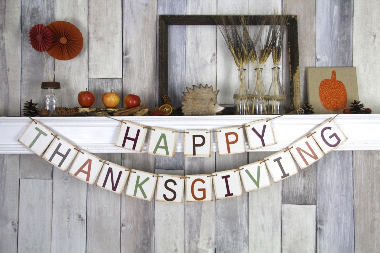 Thanksgiving banner thanksgiving decor fall banner Happy thanksgiving decorations