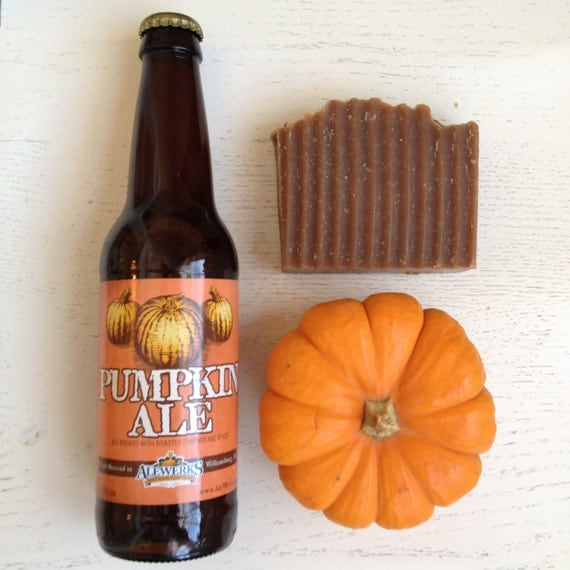 Pumpkin HANDMADE BEER SOAP - Pumpkin Ale Handmade Soap - gifts for him - vegan -Pumpkin Beer Soap - soap - pumpkin