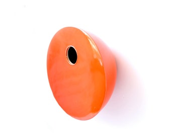 Dark Orange Modern Porcelain Wall Mounted Birdhouse