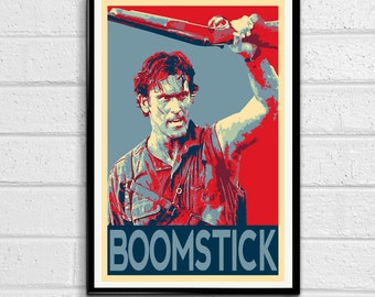 Ash Evil Dead Army of Darkness Bruce Campbell Pop Art Poster Print Canvas