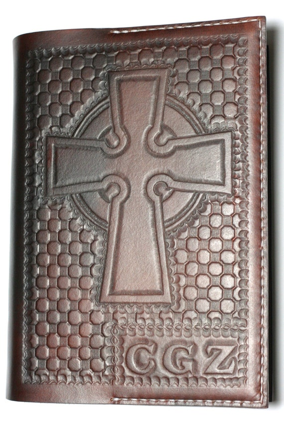 Leather Bible Cover. Personalized