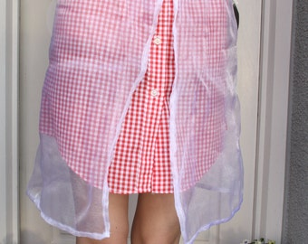 A 'Janet' Red Gingham Skirt