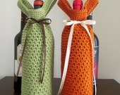 CROCHET PATTERN: Wine tote  - permission to sell finished items - digital download