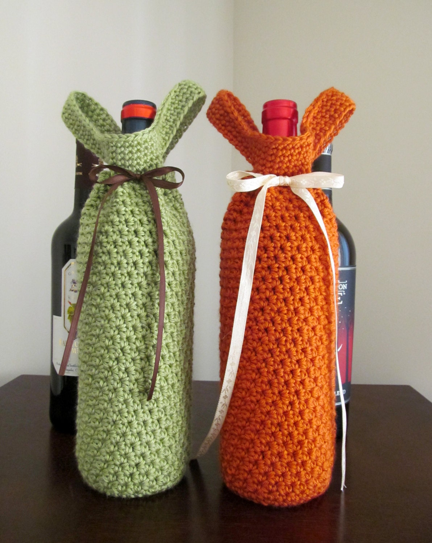 Free Crochet Pattern For Wine Bag : Wine Bottle Tote Free Crochet Patterns - Patterns Kid