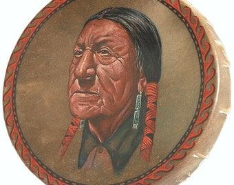 Handmade Hand Painted Native American Style Hoop Drum - AMERICAN INDIAN