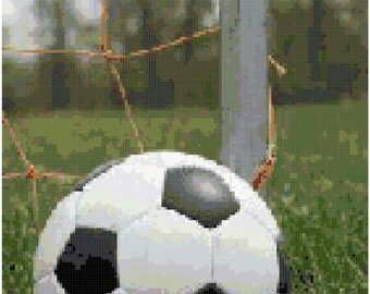 Soccer Ball Counted Cross Stitch Pattern Chart PDF Download by Stitching Addiction