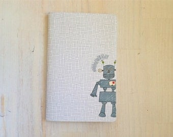 Large Notebook: Robot, Kids, Cute, Favor, Notebook, Unlined, Journal, For Her, For Him, Gift, Unique, Blank Journal, Unlined Journal, L8-065