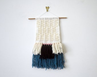 Mini Inlay Fringe Hand Knotted Wall Hanging