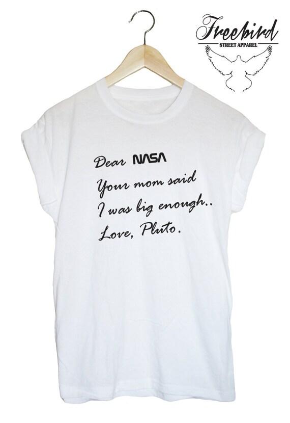 Dear NASA Love PLUTO funny tshirt tee space by ...