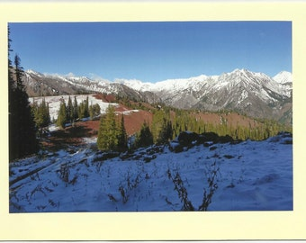EAGLE CAP Mountain Range / Original Outdoor Scenery on Blank Photo Card Twin Fold Design - Local Artist Photography