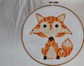Patterned Fox Modern Cross Stitch Pattern (Immediate Downloadable PDF)