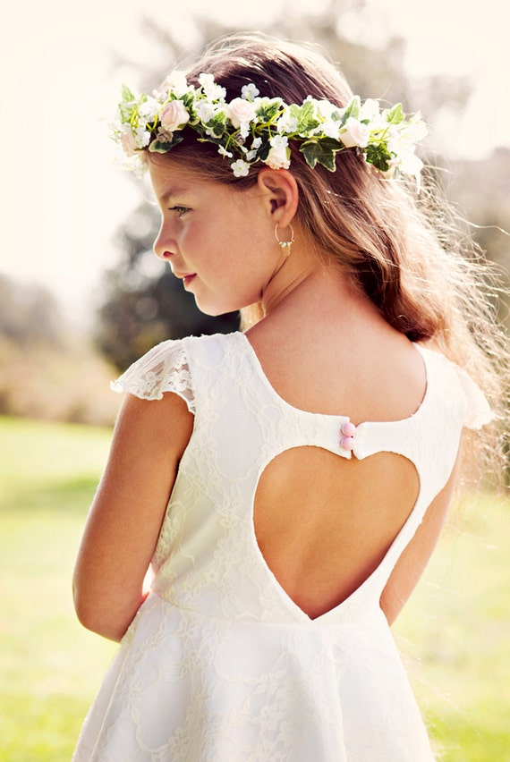 White flower cut out dress.