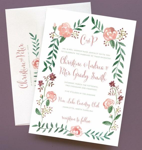 Watercolor Wedding Invite as amazing invitation sample