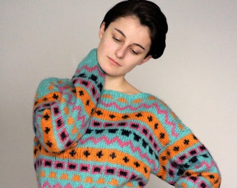 cozy colorful sweater