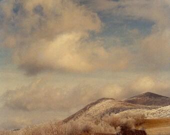 Frosty Hay 2 -- Fine Art  Photography Print -- Photo, Home Decor, Landscape, Winter, Frosty, Art