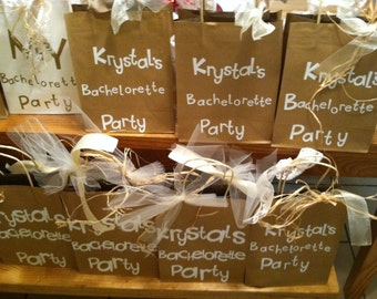 Brown Sugar and Lace.  Set of Custom Gift Bags for All Occasions/ Bridesmaids and Bachelorette