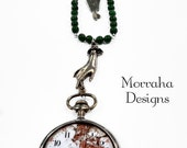 Time on my hands. OOAK Steampunk mixed media necklace.