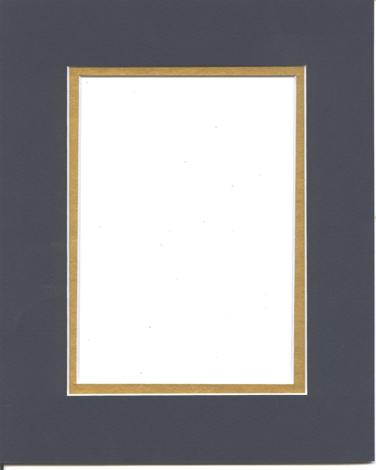 Package Of 5 11x14 Navy Blue Amp Gold Double Picture Mats