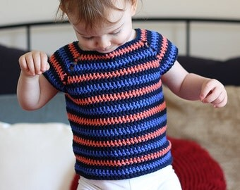 Crochet Pattern - Striped Shirt - Instant Download
