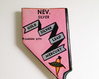 Nevada magnet - state magnet - puzzle piece