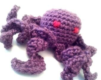 Crocheted Octopus Amigurumi Doll - Custom Order - Your choice of color