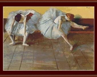 Two Ballet Dancers Cross Stitch Pattern