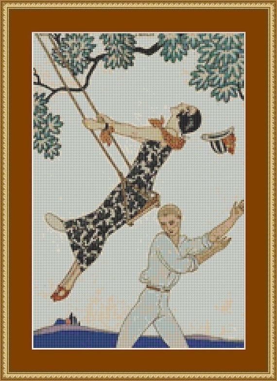 The Swing Cross Stitch Pattern /Digital PDF Files /Instant downloadable