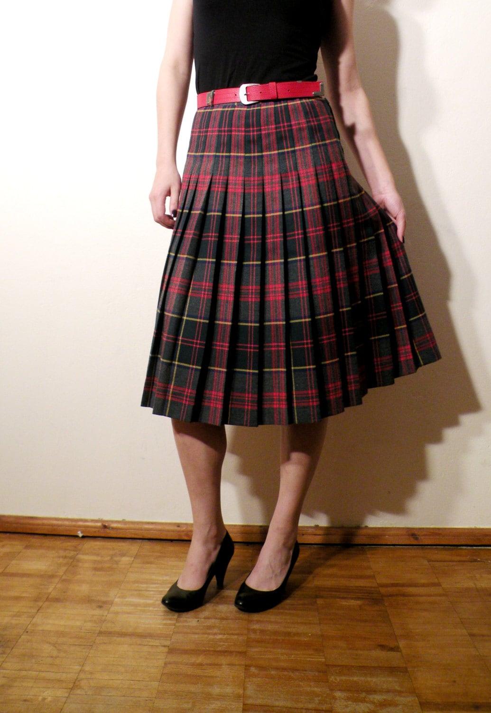 89fbb957d3 Vintage Westerlind Tartan Skirt / Plaid Skirt/ by JustGiza on Etsy