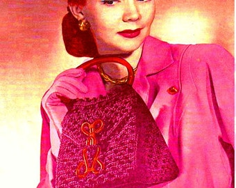 Almost FREE Vintage 1946 Chic Mailbox Bag 1042 PDF Digital Crochet Pattern